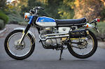 "First-year model, classic ""barn-find"",1968 Honda CL350 K0 Scrambler Frame no. CL350-1028355 Engine no. CL350E-1037229"