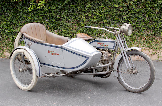 1915 Harley-Davidson 11F with sidecar Engine no. 1300K