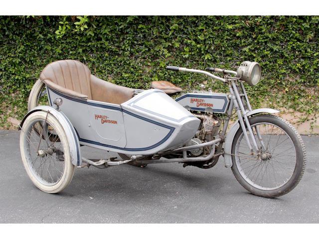 1915 Harley-Davidson 11F with sidecar Engine no. 1300K