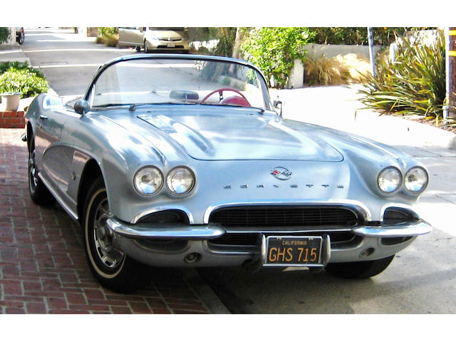 One owner from new, California black plate,1962 Chevrolet Corvette  Chassis no. CPSP 0867 Engine no. 20867S109074