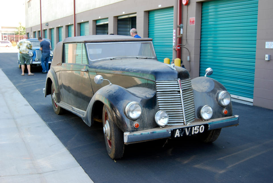 1949 Armstrong Siddeley 16 Hurricane Drophead Coupe  Chassis no. C165290 Engine no. E165225
