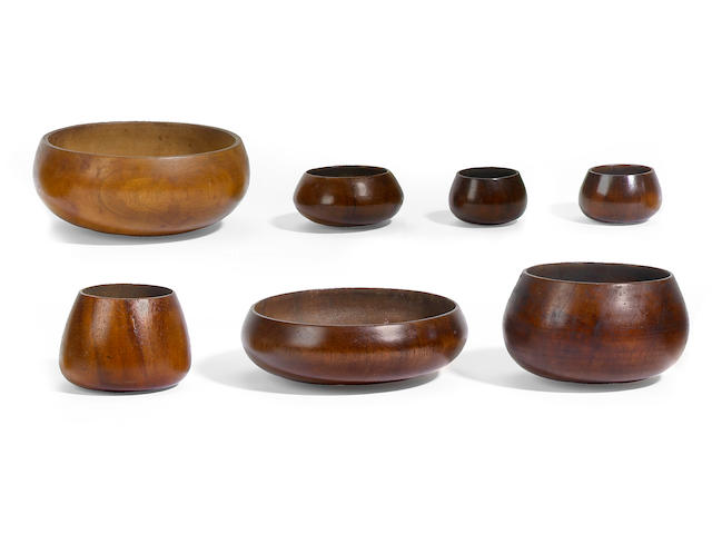 Assemblage of Seven Small Bowls, Hawaiian Islands