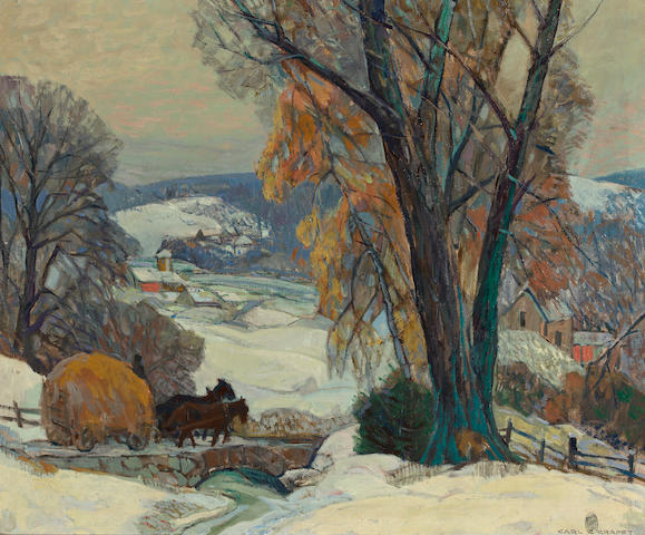 Carl Rudolph Krafft (American, 1884-1938) Winter 25 x 30in