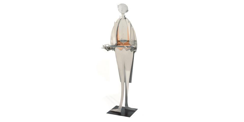 A Franz Hagenauer chromed metal silent butler
