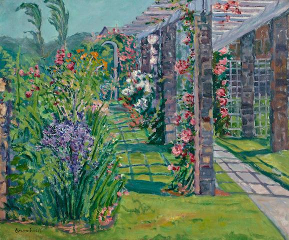 Louise Upton Brumback (American, 1872-1929) The Garden Trellis 25 x 30