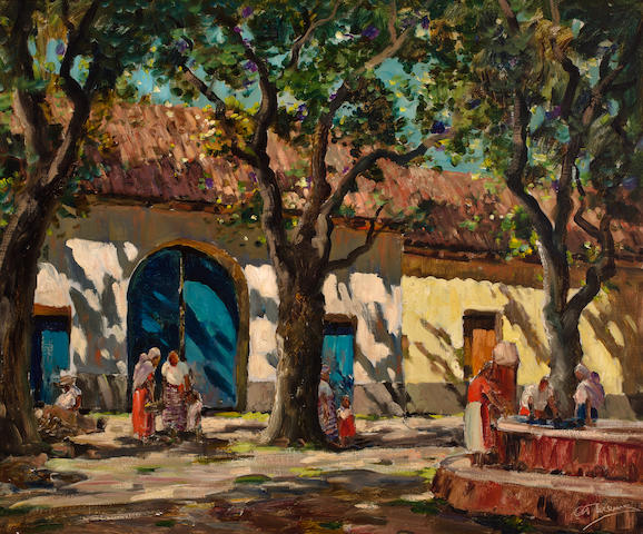 Anthony Thieme (American, 1888-1954) Las Reitas, Antigua, Guatemala 30 x 36in
