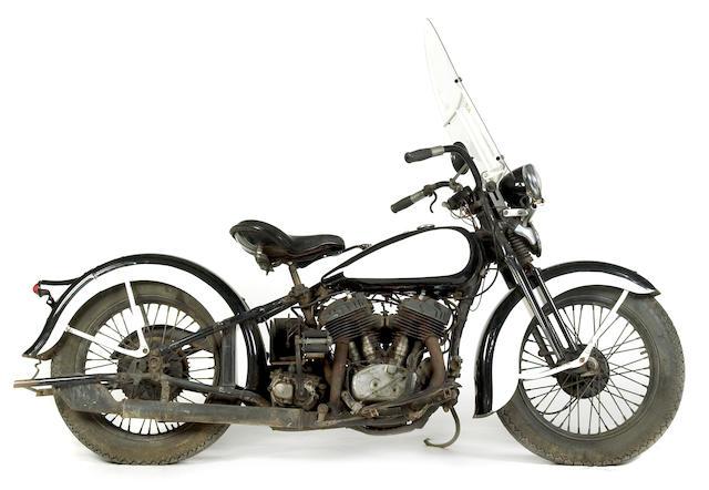 1936 Harley-Davidson 74ci VL Police Spec Engine no. 36VLR2897