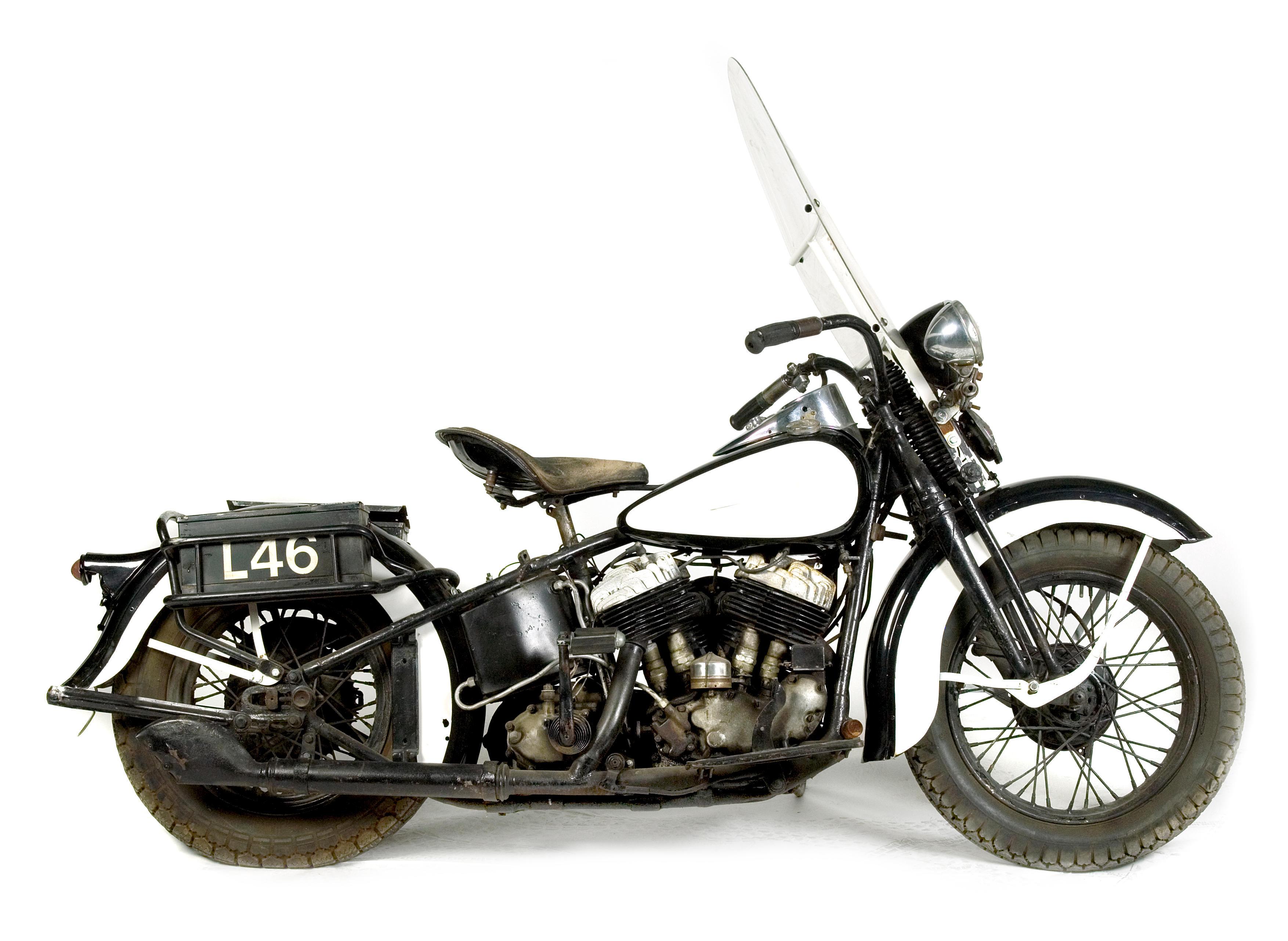 1941 Harley-Davidson 1,200cc Model UH Motorcycle ...