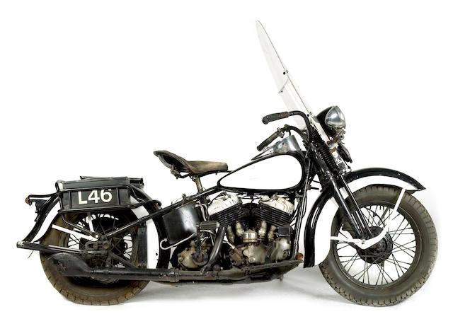 Bonhams 1938 Harley Davidson 74ci Ul Police Spec Engine 38ulh1676