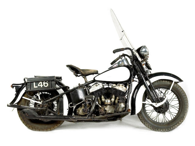 1938 Harley-Davidson 74ci UL Police Spec Engine no. 38ULH1676