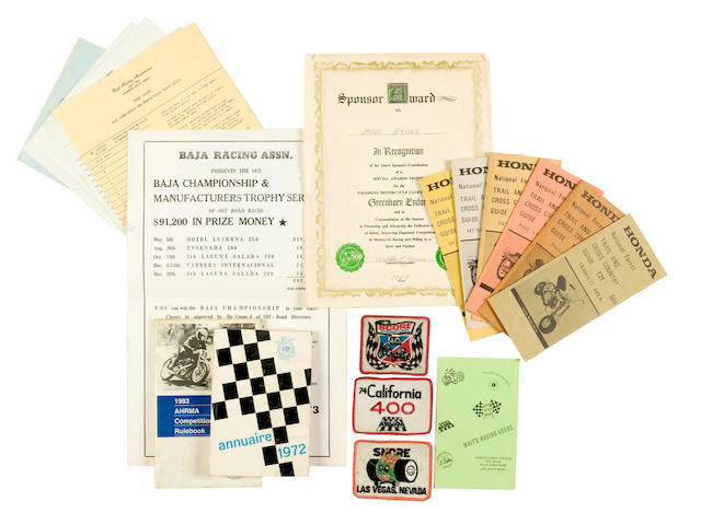 Assorted Racing memorabilia,