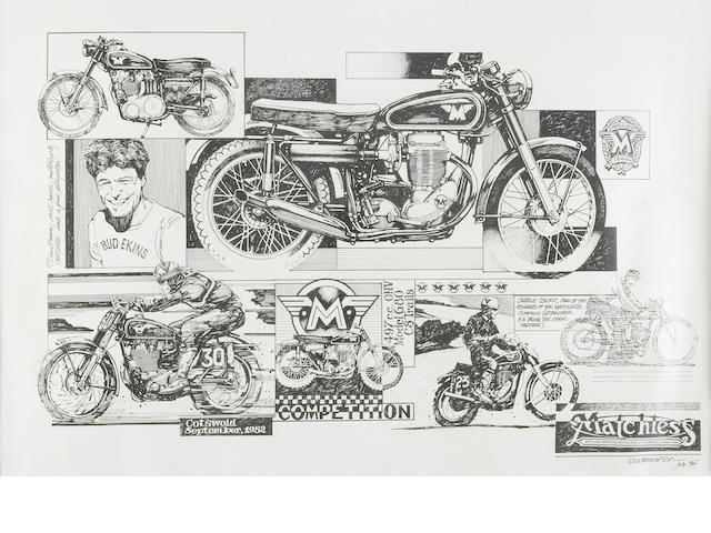 A poster for Matchless Motorcycles,