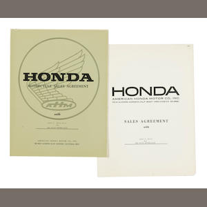 A Honda Dealership Agreement with Bud Ekins Motorcycles,
