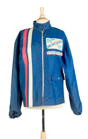 Bud Ekins' blue nylon competitor's jacket,
