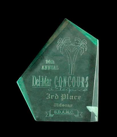 Bud Ekins' 24th DelMar Concours, 3rd place trophy,