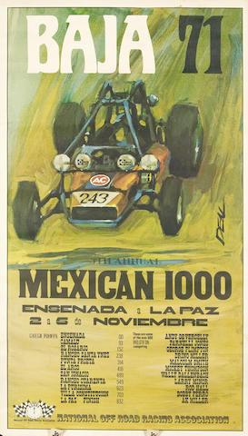 A 1971 Baja 1000 poster,