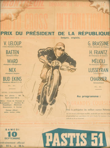 A French MotoCross poster,