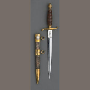 A Model 1939 Royal Yugoslavian army officer's dagger