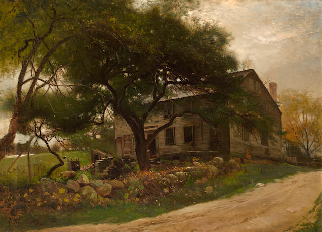 (n/a) Arthur Parton (American, 1842-1914) Old Farm House in the Catskills 22 x 30in