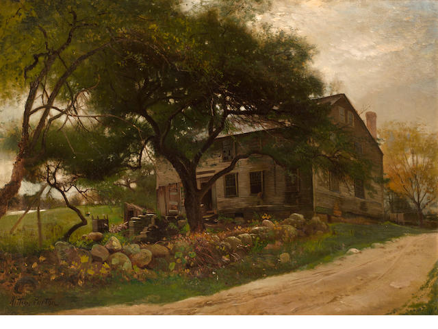 Arthur Parton (American, 1842-1914) Old Farm House in the Catskills 22 x 30in