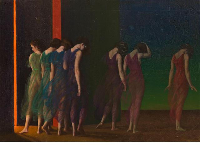 Arthur Bowen Davies (American, 1862-1928) Isadora Duncan Dancers 20 x 28in