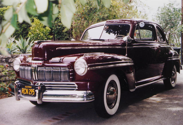 One owner from new, original California Black Plate,1946 Mercury Model 72 Coupe  Chassis no. 99A119674