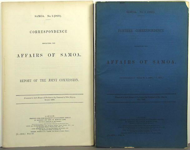 [SAMOA - GOVERNMENT & TRADE.] 14 items.