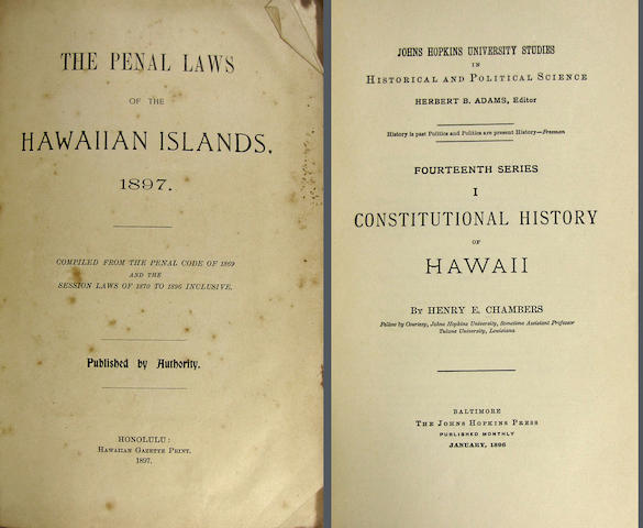 [HAWAII--LAWS AND GOVERNMENT.]
