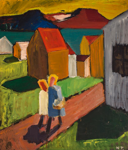 (n/a) Nina Tryggvadottir (American, born 1913) Reykjavik 36 x 31in