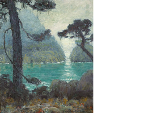 William Posey Silva (1859-1948) Carmel coastal scene 24 x 20 1/4in