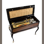 A large and fine Forte-Piano interchangeable music box-on-stand, by Nicole Frères, Circa 1875, of exhibition-standard layout,