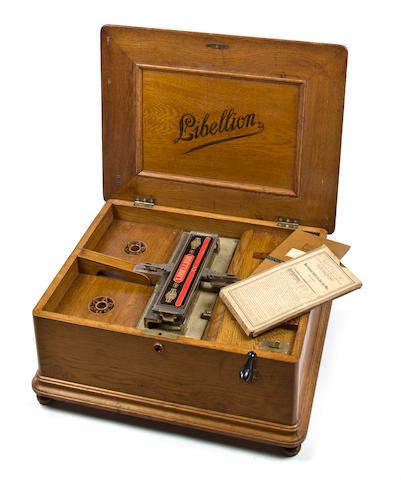 A Libellion music box, by Fri. A. Richter & Co., German, circa 1905,