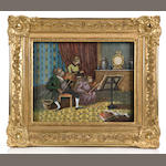 A two-dimensional wall-mounted color lithographed automaton, Circa 1890,