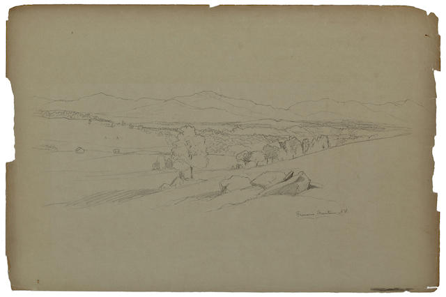 (n/a) David Johnson (American, 1827-1908) Drawings: Nineteen various sizes; largest 12 1/2 x 18 3/4in unframed