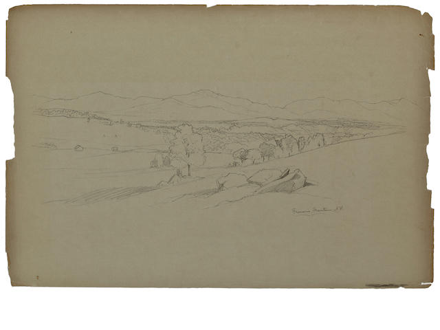 David Johnson (American, 1827-1908) Drawings: Nineteen various sizes; largest 12 1/2 x 18 3/4in unframed