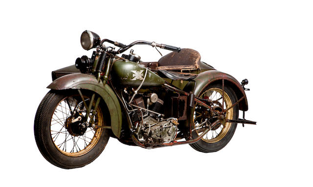 A combination of classics, from an important Long Island collection,1929 Excelsior Super X with Sidecar Engine no. A6327