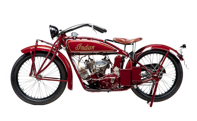 Middleweight masterpiece, from an important Long Island collection,1924 Indian Scout V-Twin Engine no. 50X395