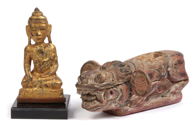Two southeast Asian wooden decorations
