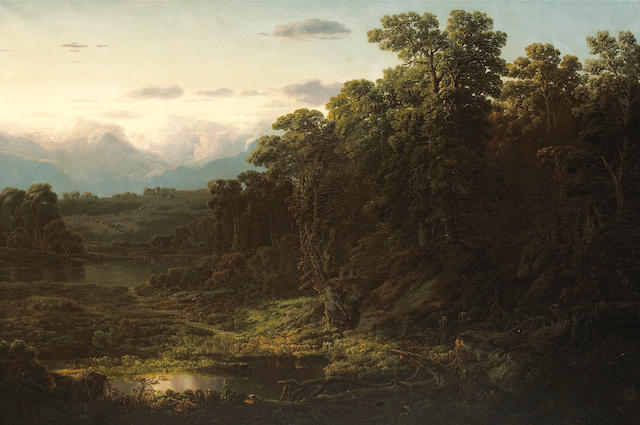 William Louis Sonntag (American, 1822-1900) Ohio landscape, 1854 40 1/4 x 60 1/4in