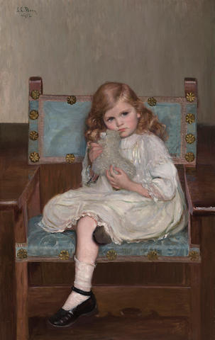 Lilla Cabot Perry (American, 1848-1933) My Lamb 46 x 29in