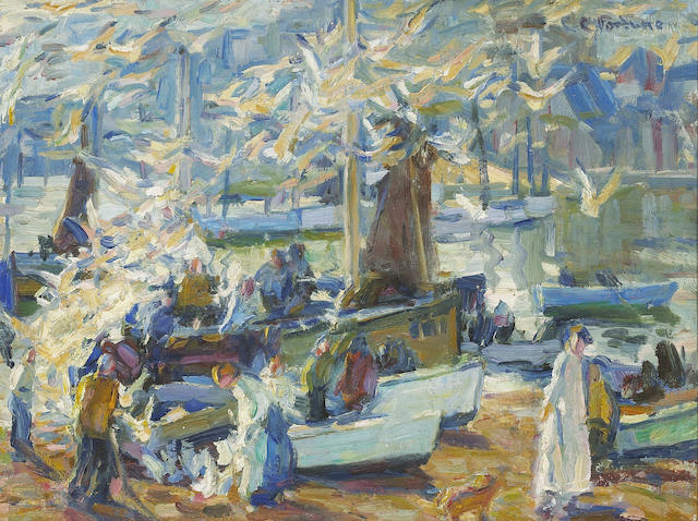 (n/a) E. Charlton Fortune (1885-1969) Scavengers, St. Ives, 1922 12 x 16in