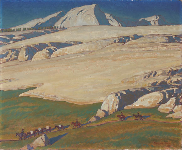 (n/a) Maynard Dixon (1875-1946) Moraine and meadow, Sierra Nevada, Inyo County, California, 1924 25 1/4 x 30 1/4in