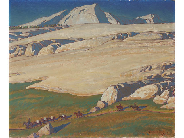 (n/a) Maynard Dixon (1875-1946) Moraine and meadow, Sierra Nevada, Inyo County, California, 1924 25 1/4 x 30 1/4in