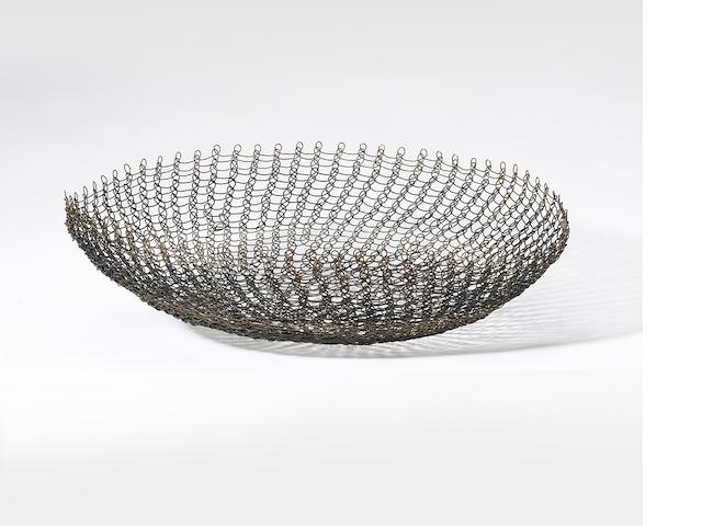 Ruth Asawa (American, born 1926) Untitled (Basket), c. 1950 diameter 14in <br>height 4 1/4in
