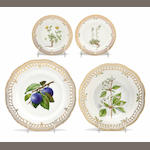 Four pieces of Royal Copenhagen Flora Danica porcelain <br>date codes for 1959-1984