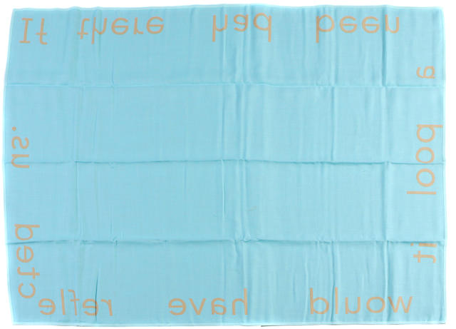 Jim Hodges (American, born 1957) Untitled (Double-sided Blanket) (from the Peter Norton Family Christmas Project), 1998 52 x 72in