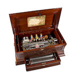 A' Sublime-Harmonie' Mandarin-Striker interchangeable music box, most probably by Mermod Frères, Circa 1885,