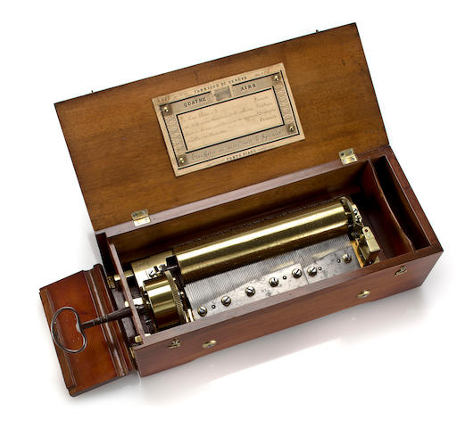 A key-wind Forte-Piano music box, by Nicole Frerés, Circa 1825,