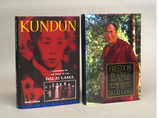 A group of books on Tibet, the Himalayas, Mongolia, and the Dali Lama
