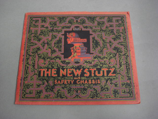 An original 'The New Stutz Vertical Eight' sales brochure, circa 1925,